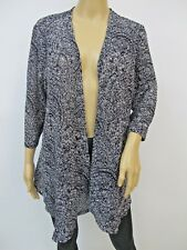 Kate & Mallory Black Sweater Knit Open Front Cardigan Size M