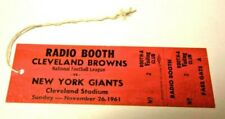 1961 NFL FOOTBALL PRESS PASS VERY RARE NEW YORK GIANTS VS CLEVELAND BROWNS