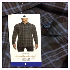 Weatherproof Vintage Men's dark Blue Flannel Shirt