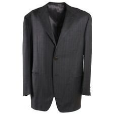 $3995 SARTORIA PARTENOPEA Charcoal Gray Stripe Wool Suit 48 R (Eu 58)