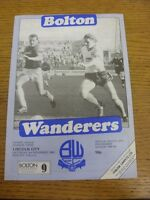 03/11/1984 Bolton Wanderers v Lincoln City  (team changes & cross word completed