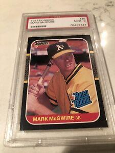 1987 Donruss Mark McGwire Rated Rookie PSA MINT 9 Oakland  A's #46 Baseball Card