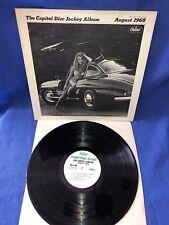 Capital Records Disc Jockey Album DJ Promo 1968 August Vinyl LP  RARE