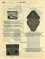 1929 PAPER AD 5 PG Smoking Pipe French Itailian Briar Windsor Bakelite Campaign