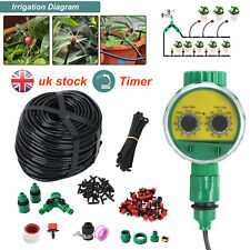 More details for 160x automatic drip irrigation system kit plant +timer self watering garden hose