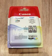 Genuine Canon PG-510 Black + CL-511 Colour Ink Cartridge Combo Pack