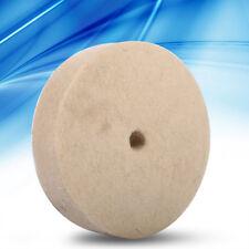"""100x25mm 4""""Beige Jewelry Polishing Buffing Wheel Wool Felt Polisher Disc Pad AF"""
