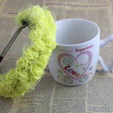 Rose Flower Crown Headband Wedding Prom Beach Floral Garland Hairband Headpiece