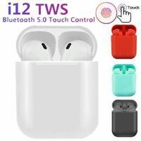 NEW i12 TWS Bluetooth 5.0 Headset Wireless Earbuds Headets earphones