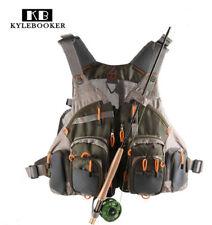 KyleBooker Fly Fishing General Size Mesh Vest Adjustable Mutil-Pocket Outdoor
