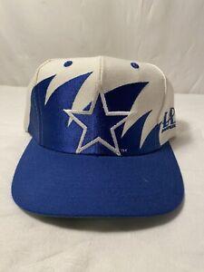 Vintage NFL Dallas Cowboys Shark Tooth 90's Logo Athletic Snapback Hat Pristine
