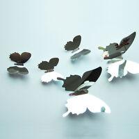 12 stk 3D Schmetterlinge Wandtattoo Wanddeko Wandsticker Aufkleber Spiegel A+