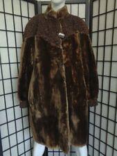 EXCELLENT SHEARED ARCTIC BEAVER FUR COAT JACKET BROWN PERSIAN LAMB WOMEN WOMAN