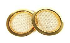 2pc. Beautiful Gold Screened Resonator Guitar Sound Hole Inserts - 32-51-01