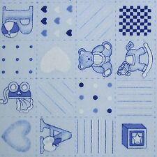 Tela Polycotton Retazos Azul de bebé vivero Print-Sonajero-Pram (por Metro)