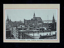 c.1890 Panorama from Tribune Building Brooklyn NY souvenir view