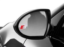 2x Audi s-line außenspiegel aufkleber logo A6 A7 A8 A3 A4 Q7 Q5 RS