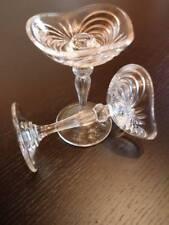 PORTA CANDELE in CRISTALLO ,vintage ,made in Italy ,meravigliose , altezza 13 cm