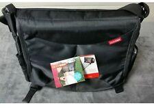 Skip Hop Diaper Bag Black Swift Changing Station Unisex Shoulder Bag NEW $65