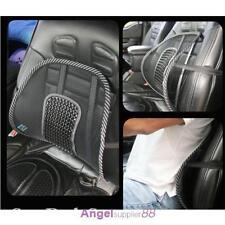 HOT~ Black Mesh Cloth Car Seat Cushion Lumbar Waist Back Support Lumbar Pillow