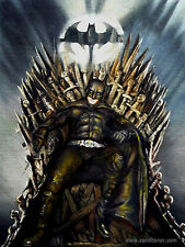 "SUPERB ORIGINAL ZEN O'CONOR ""Batman"" Bruce Wayne IRON THRONE SERIES PAINTING"