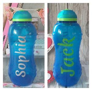 2x Same Name - Personalised Water Bottle Vinyl Sticker Label