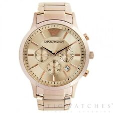 ARMANI AR2452 ROSE GOLD CHRONOGRAPH STAINLESS STEEL MEN'S WATCH - RRP £399