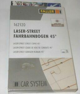 FALLER CAR SYSTEM - LASER STREET - FAHRBAHNBOGEN 45 GRAD SET 162120 4 STÜCK N