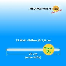 D3 Solariumröhren Wolff 15W UVB/UVA 3,2%
