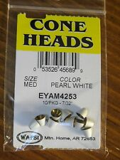 Wapsi Cone Heads Painted for Fly Tying coneheads, size Medium - Pearl White