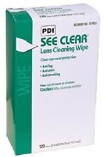 """120 PDI SEE CLEAR Eye Glasses Lens Cleaning Wipes 5""""x8"""" Eyeglass ( Not Zeiss)"""