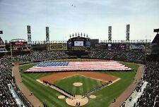 American Flag at Chicago White Sox Baseball Stadium US Cellular Field - Postcard