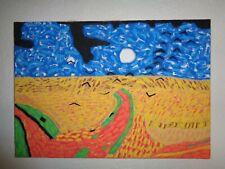 Van Gogh - Campo di grano con volo di corvi - Pittura su tela - Copia d'Autore