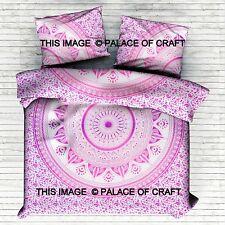 Ombre Mandala King Comforter Duvet Quilt Cover Indian Blanket Pillow Cover Set