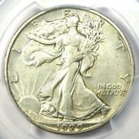 1929-D Walking Liberty Half Dollar 50C - PCGS XF45 (EF45) - Rare Date Coin!
