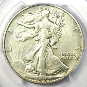1929-D Walking Liberty Half Dollar 50C - PCGS XF45 (EF45) - Rare Date Coin!