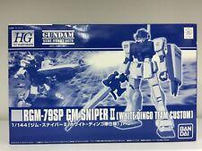 Premium Bandai HGUC 1/144 RGM-79SP GM Sniper II White Dingo Team Custom Gundam