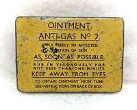 Vintage WW2 Tin-Soldiers Ointment Anti Gas No 2- Empty Tin-Military/Militaria