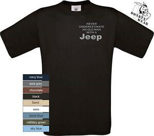 "Offroad  T-Shirt Man  ""Old Man Jeep  "" gerader Schnitt"