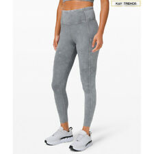 "Lululemon Womens Fast and Free High Rise Tight 25""-Ice Dye-Ice Wash Asphalt Grey"