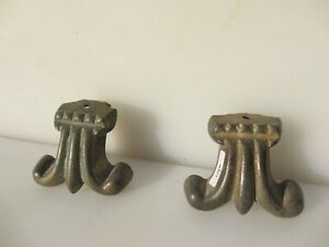 Victorian Brass Furniture Feet Old Table Guard Cover Foot Antique Fleur Bumper