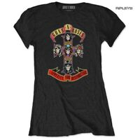 Official Skinny GUNS N ROSES T Shirt 'Appetite For Destruction' Black All Sizes
