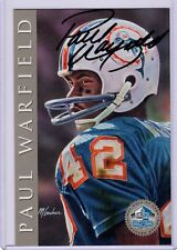 Paul Warfield 1998 Hall of Fame Signature Series /2500 Auto Dolphins