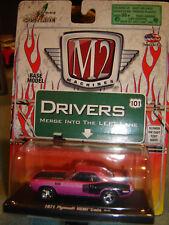 Castline M2 Auto DRIVERS 1971 PINK HEMI CUDA 1/64 New in Pkg