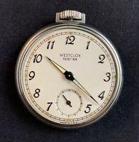 Vintage Westclox Pocket Ben Glow in the Dark Hands Pocket Watch