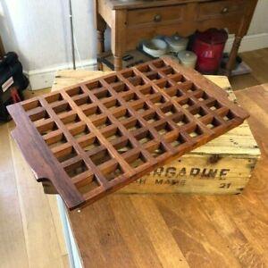 Vintage Mid-Century Danish Anri Form Teak Lattice Serving Tray / Trivet – Retro!