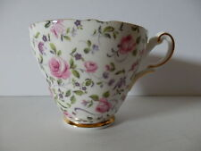 Grosvenor Jackson & Gosling Bone China Rose Chintz Cup Made in Eng. EUC