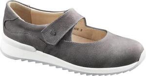 FINN COMFORT SHOES SOIANO STONE LEATHER WOMEN'S FINNCOMFORT GREY WOMAN MARY JANE