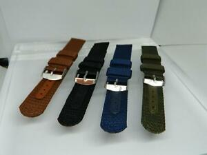 20mm Tonys Webbed Canvas watch straps,Reinforce Strip ,Two keepers, 4 Colours