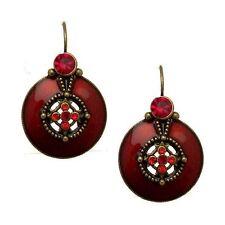 Leverback Crystal Enamel Drop/Dangle Costume Earrings